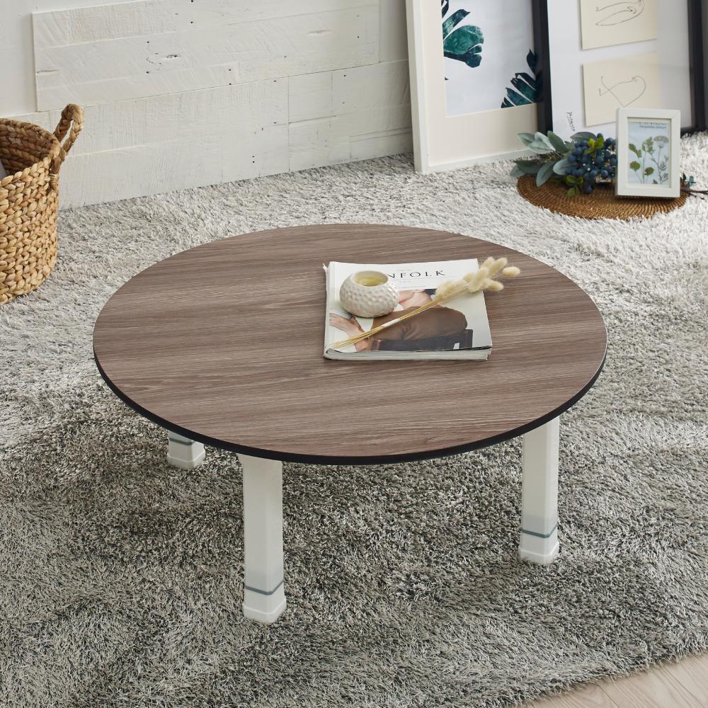 조은세상 LPM 원형 테이블 R600, 브라운