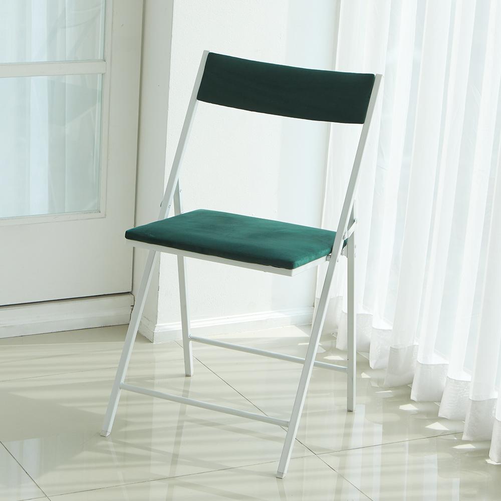 까사마루 노블레 벨벳 접이식 의자, 그린 + 화이트