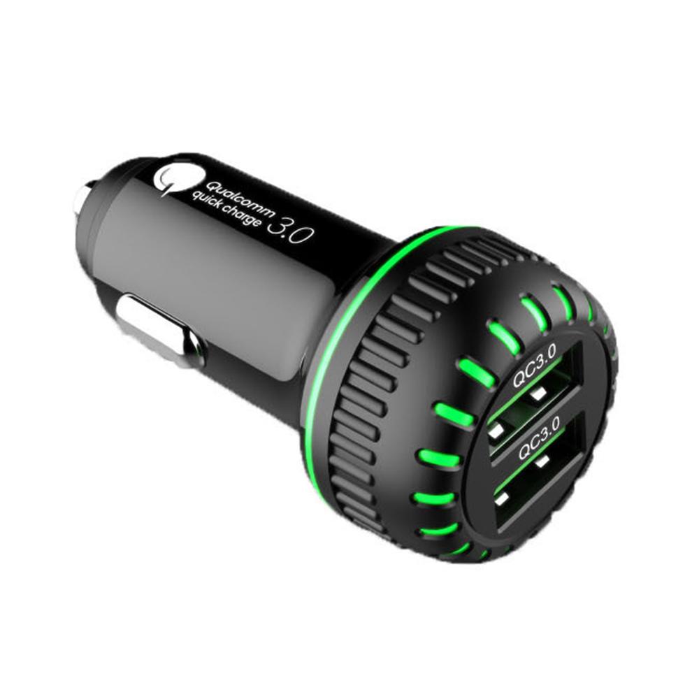 카템 듀얼 QC3.0 차량용 고속충전기 36W, CT094, 혼합색상