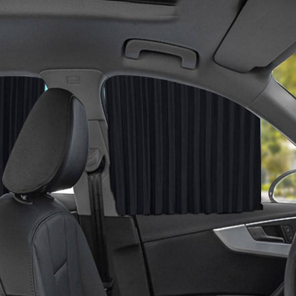 SF울트라 차량용 햇빛 차단 커튼 앞창용 2p + 뒷창용 2p + 양면테이프 세트, 1세트