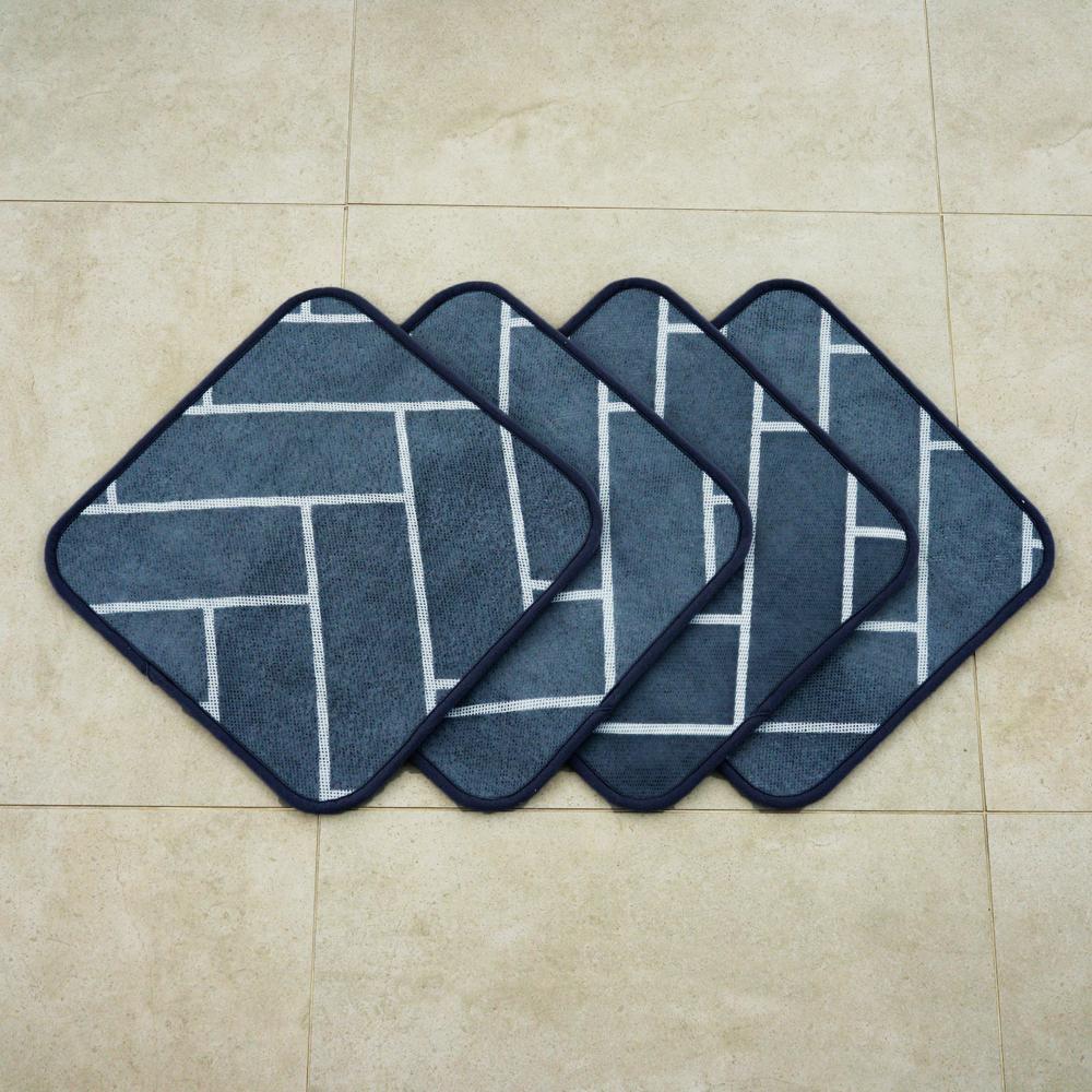 인룸 3D 헤링본 에어매쉬 방석 4p, 다크그레이