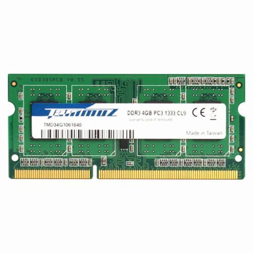 타무즈 4GB DDR3 PC3-10600 CL9 램 노트북용, 단일상품
