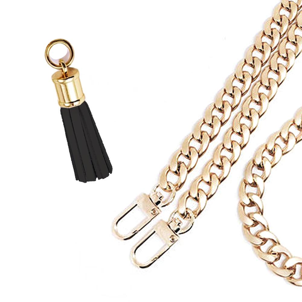 누아트 링킹 체인 태슬 핸드백줄 B타입 20cm, 체인(골드) + 태슬(블랙), 1개