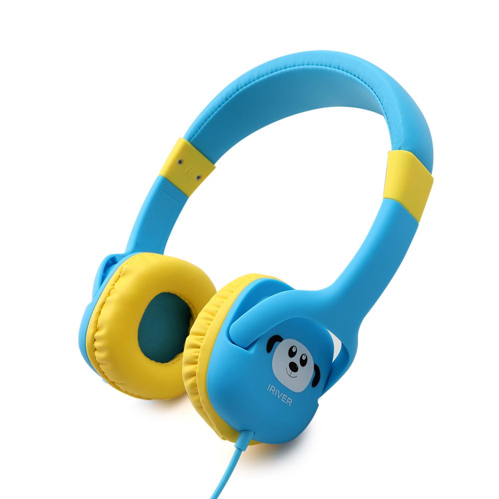 아이리버 청력보호 인강 어린이 헤드셋, 블루, IKH-300i