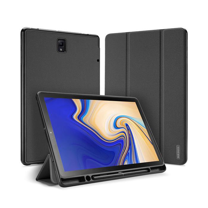 덕스듀시스 S펜수납 도모2 스마트 태블릿 케이스 26.67cm, 블랙