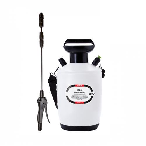 오투오 포머 캐미컬 압축분무기 청소용품 5L 호스 1.4m, 1개