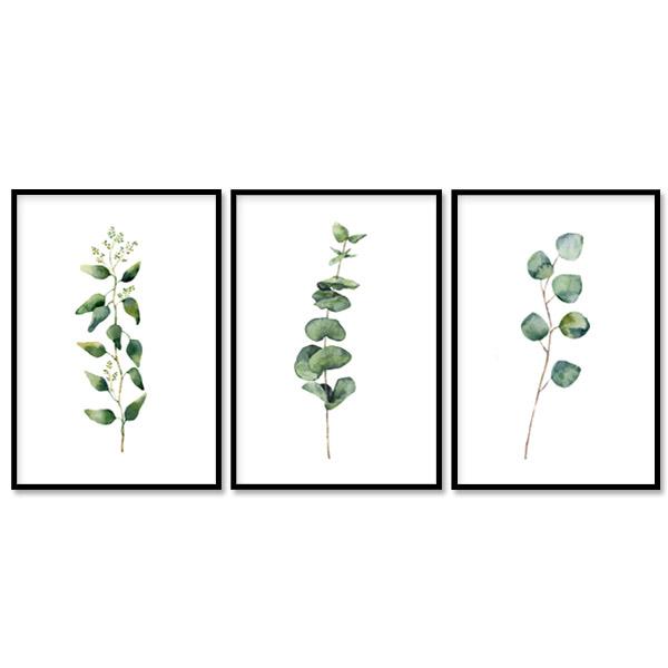 빈페이퍼 거실 인테리어 그림 패브릭 식물 액자 3종 세트 야생화