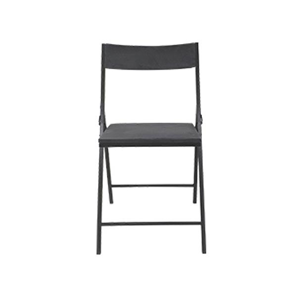 까사마루 노블레 벨벳 접이식 의자, 그레이 + 블랙