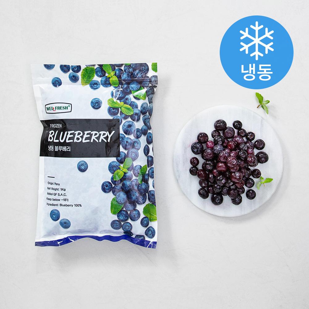 웰프레쉬 냉동 페루산 블루베리 (냉동), 1kg, 1봉
