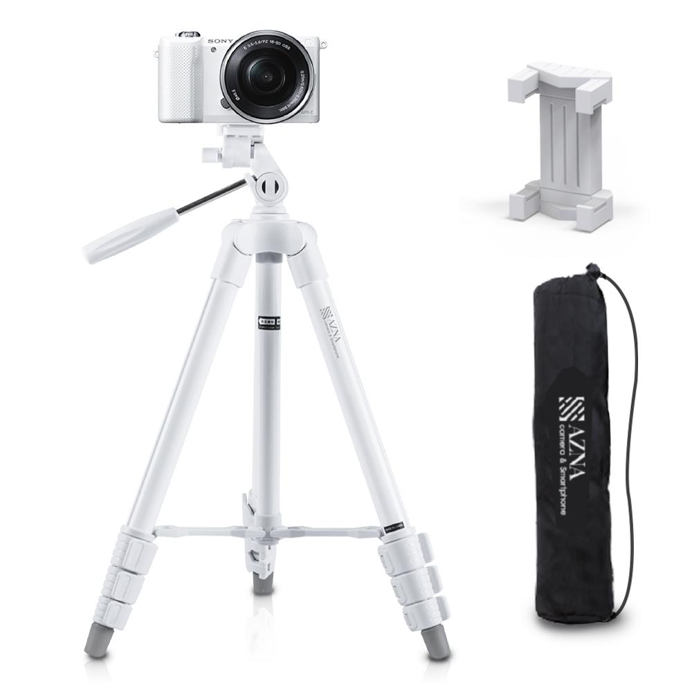 아즈나 카메라 스마트폰 삼각대 + 스마트폰 홀더 + 파우치 세트, 삼각대(TRIPOD-1/화이트)