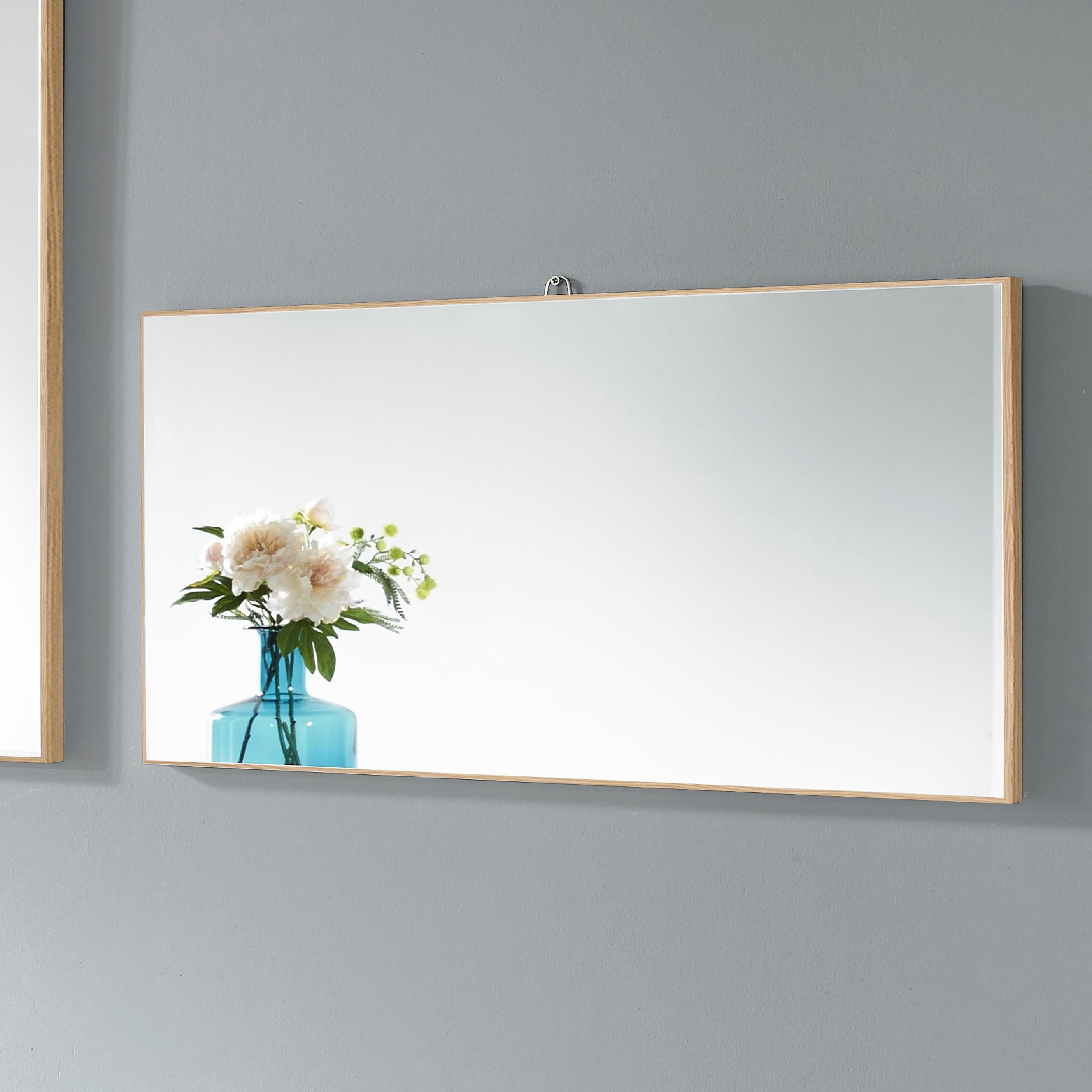 미소아이 가로세로 욕실겸용 모던 벽거울 600, 내츄럴