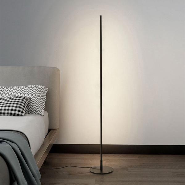 카키고 LED 플로어 3색 모드 장스탠드 LED-001, 블랙
