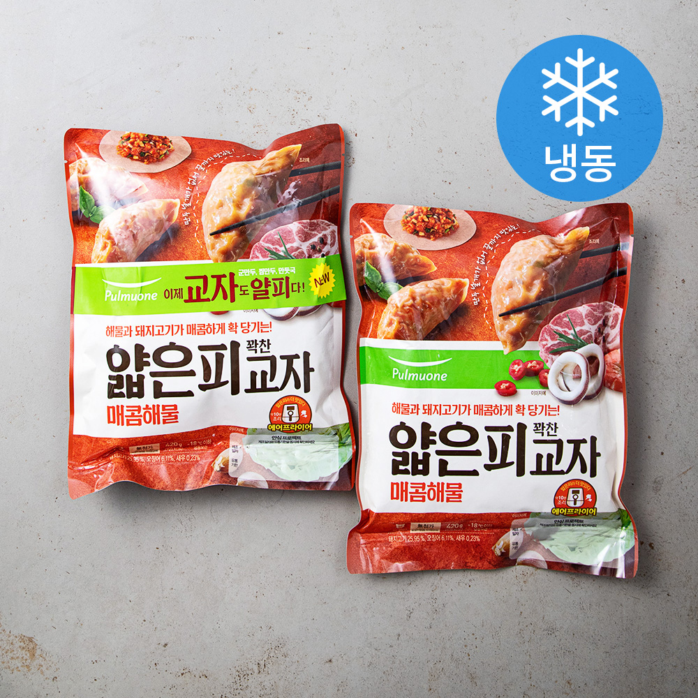 풀무원 얇은피 꽉찬 교자 매콤해물 (냉동), 420g, 2개