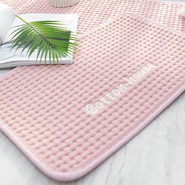 까사엘 솔리드 와플 욕실 발매트, 핑크