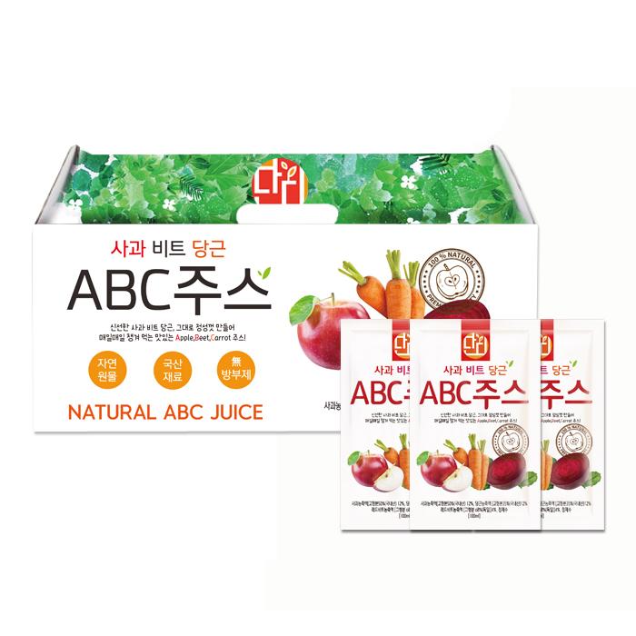 단디푸드 사과 비트 당근 ABC주스, 100ml, 30개