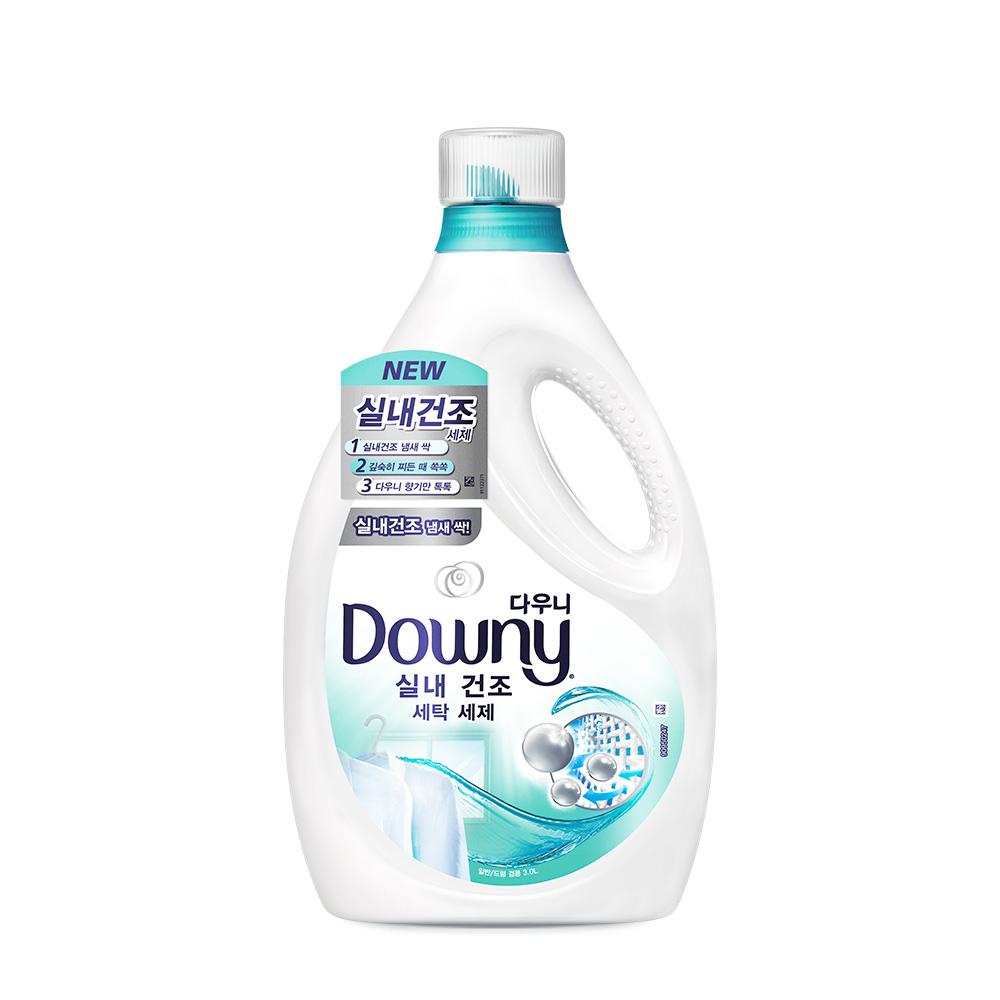 다우니 실내건조 세탁 세제 액체형 본품, 3L, 1개