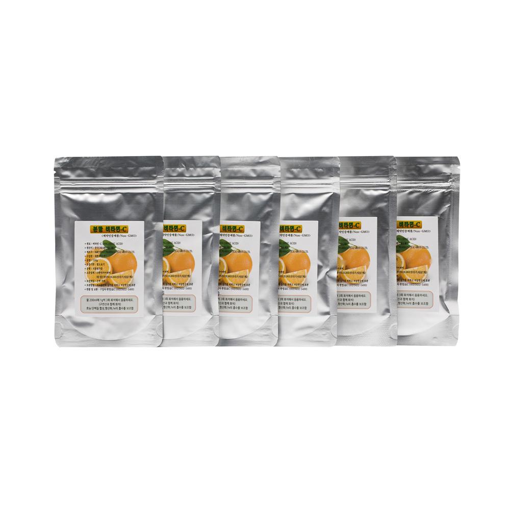 분말비타민-C + 양면 계량스푼, 100g, 6개