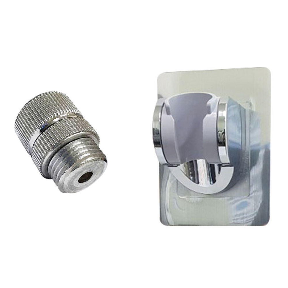 강력접착 각도조절 샤워기홀더 + 호스꼬임 방지 회전조인트, 1세트