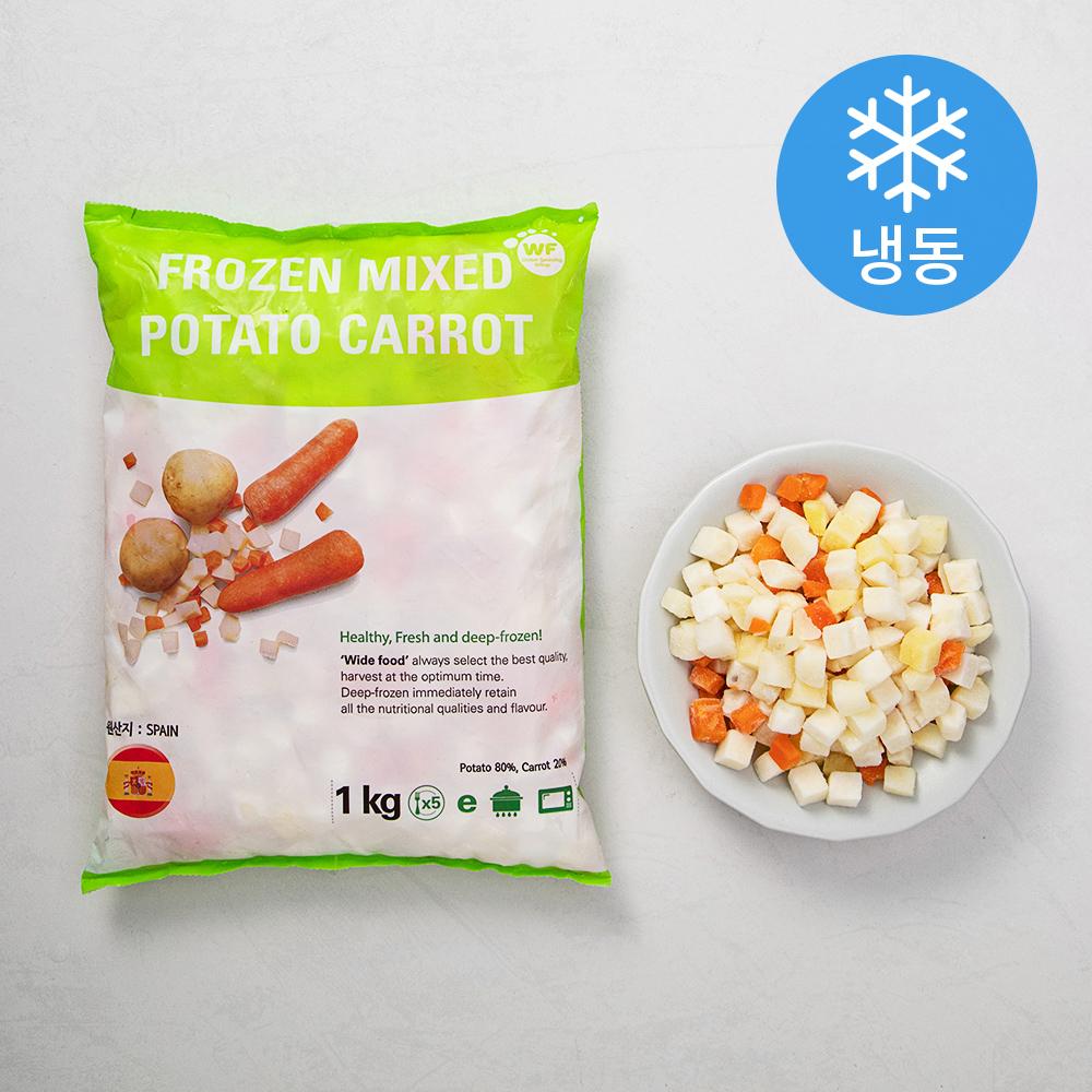 마당발 혼합야채 2종 감자 / 당근 (냉동), 1kg, 1봉