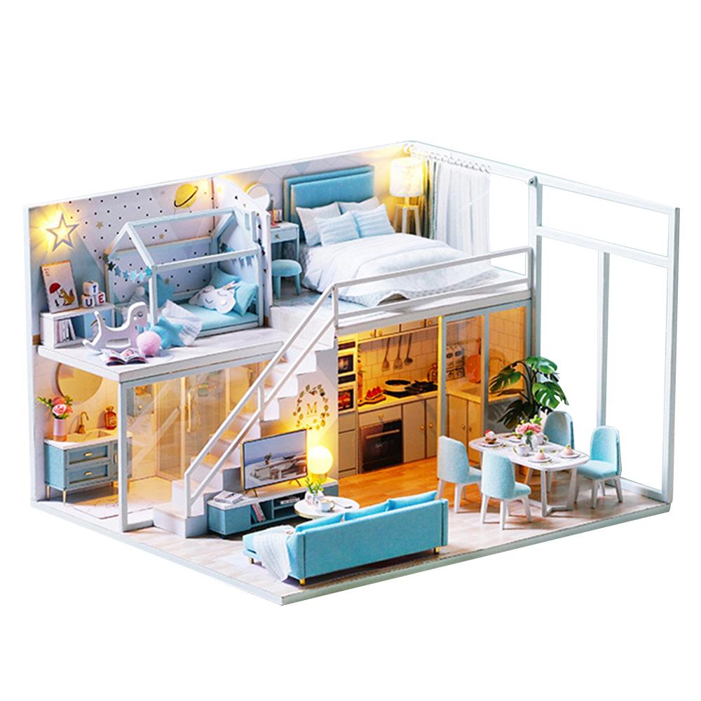옥탑방 복층 DIY 미니어처 펜트하우스 만들기 블루