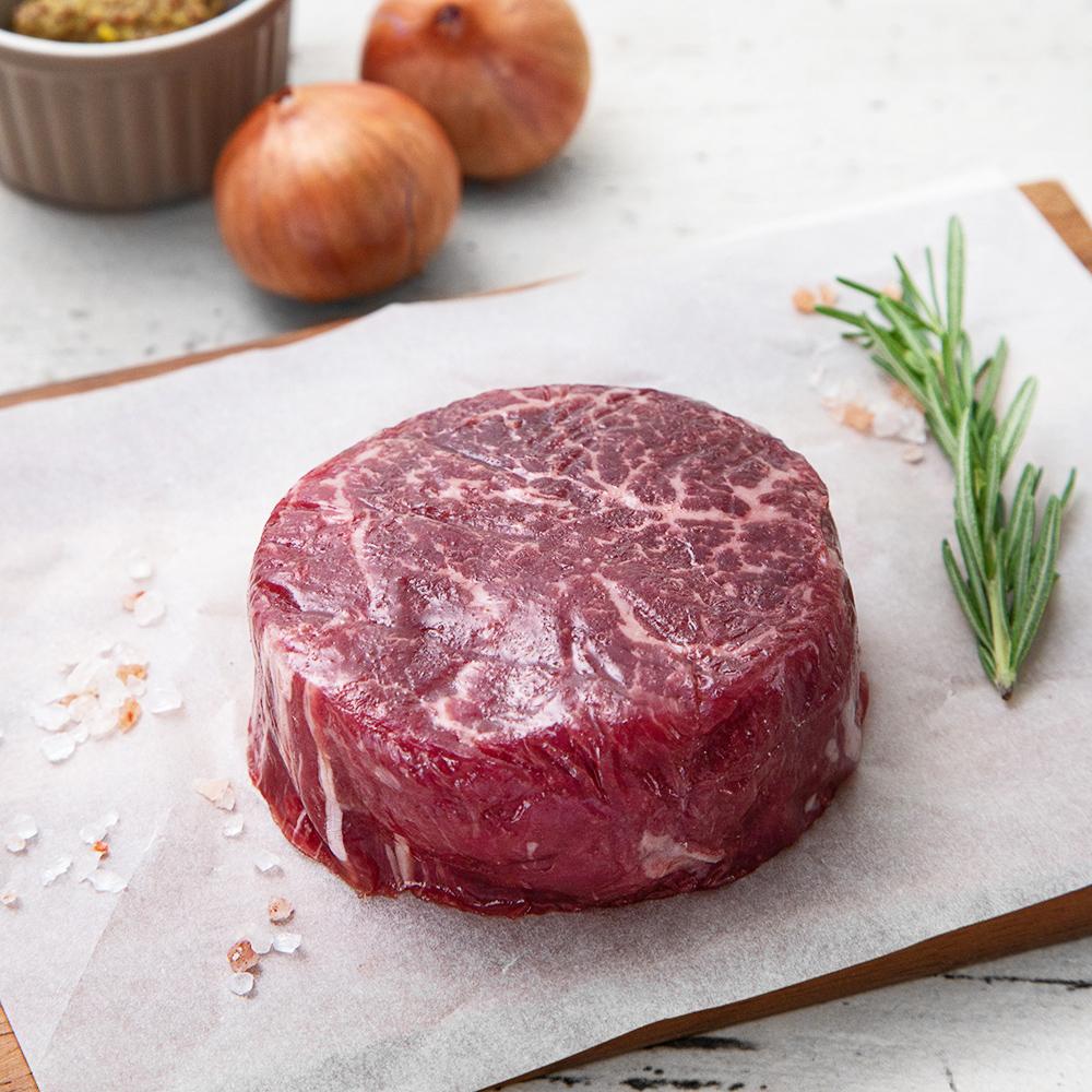 [안심 스테이크] 견우마을 미국산 초이스 안심 스테이크 (냉장), 200g, 1팩 - 랭킹1위 (23000원)