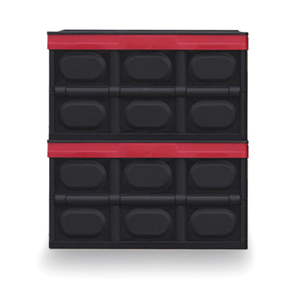 일루와 폴딩 리빙 박스 대형 56L, 블랙, 2개