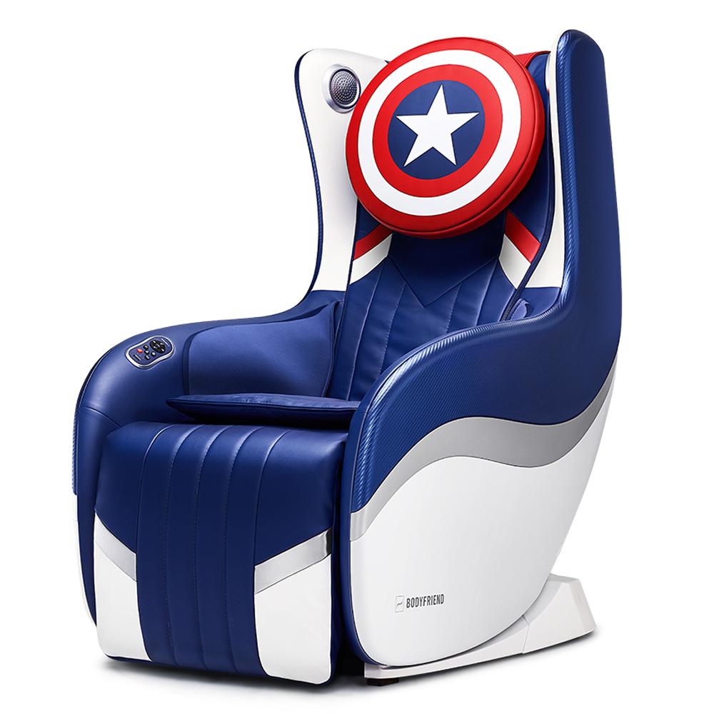 바디프랜드 허그체어2.0 캡틴아메리카 방문설치, BFX-2000, 블루 + 화이트 + 레드