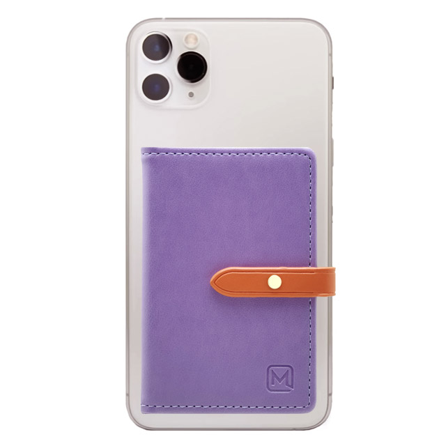 메오르 휴대폰 부착형 카드 포켓 홀더 지갑 케이스, 퍼플, 1개