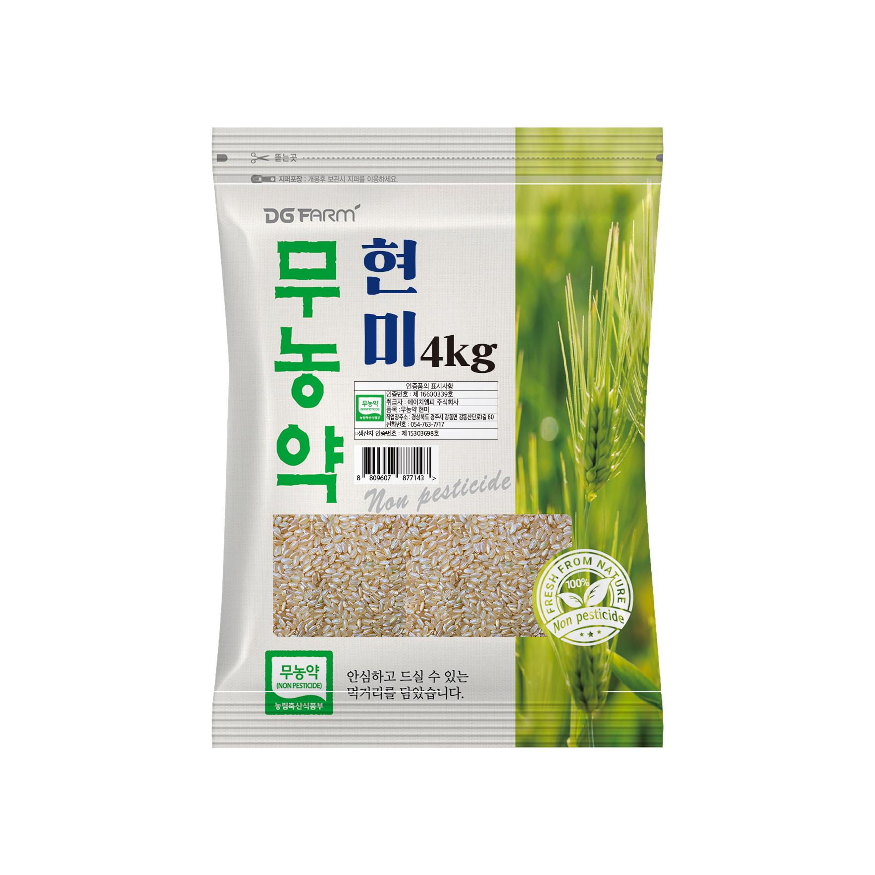 대구농산 무농약 현미, 4kg, 1개