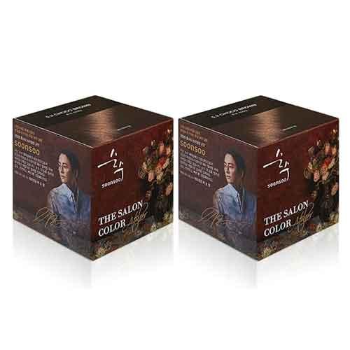 순수 더 살롱 컬러 아뜰리에 염모제, 초코 브라운, 2개