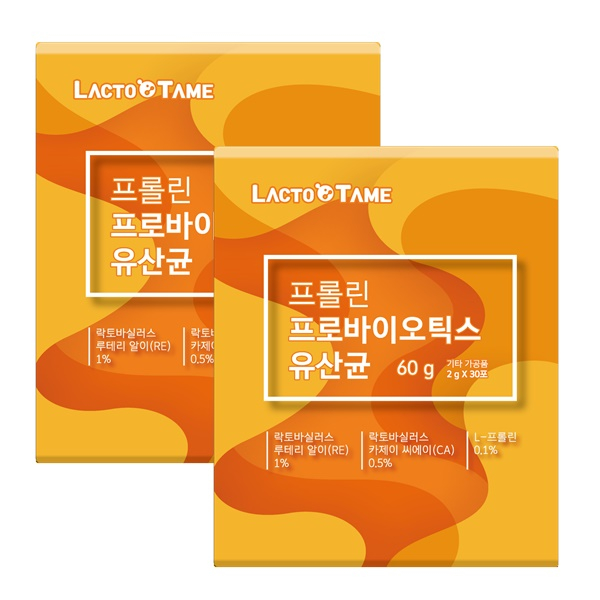 락토테미 프롤린 프로바이오틱스 모유 유산균 스틱, 60개, 2g