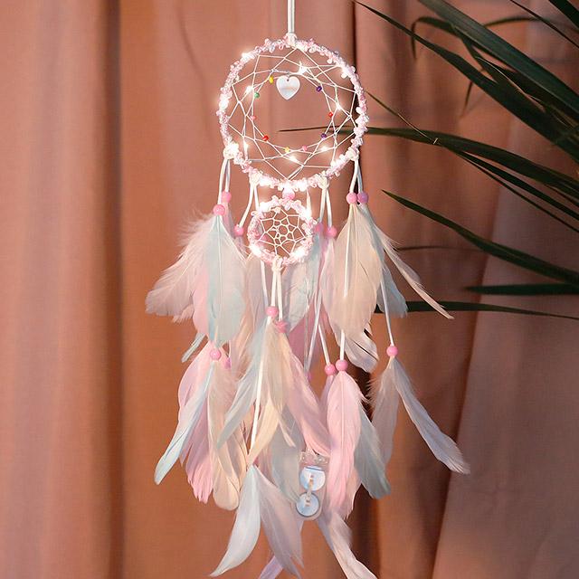 220VSHOP 마쉬멜로우 LED 드림캐쳐 무드등 + 쇼핑백 세트, 혼합색상