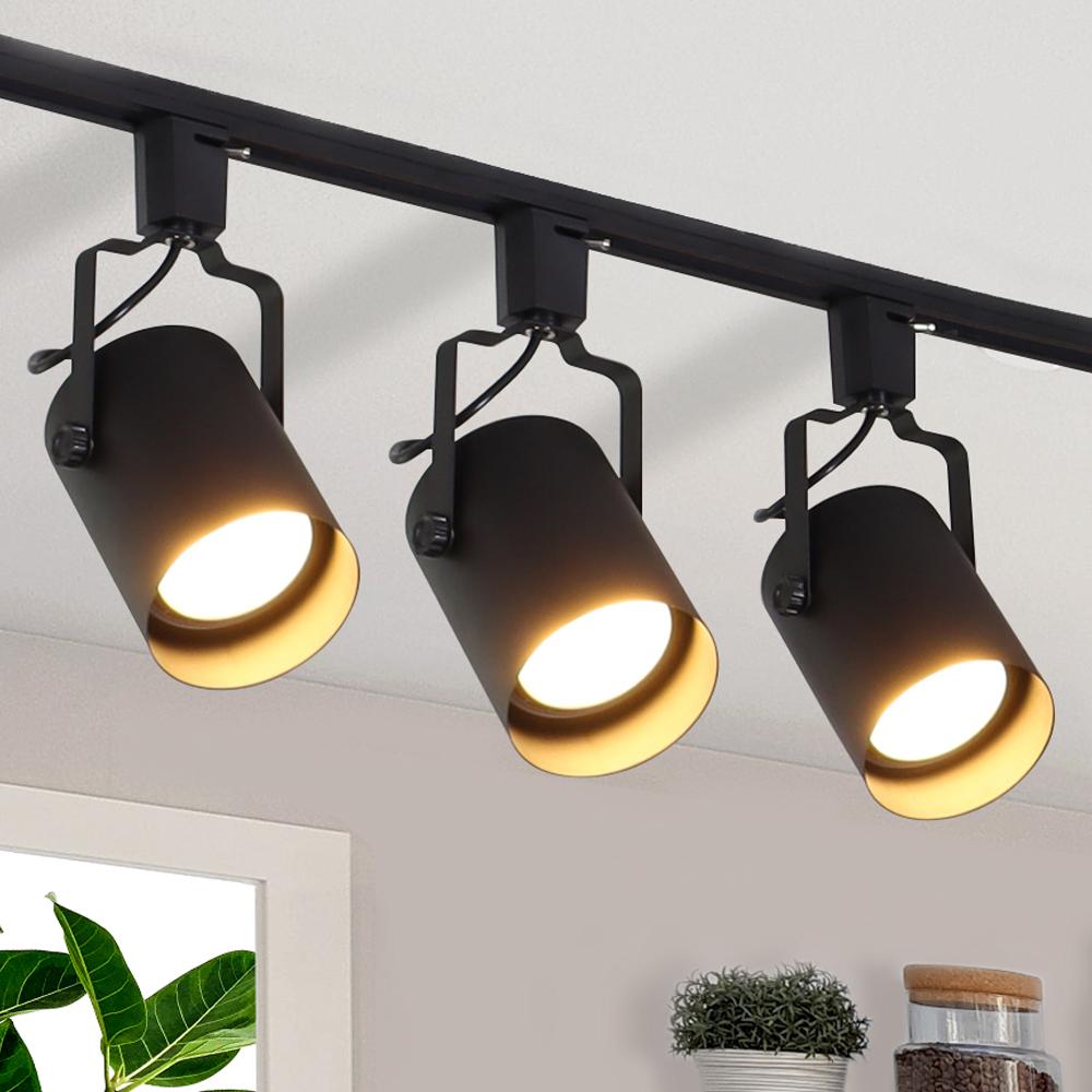 플랜룩스 원통 등기구 + 레일 1m + 파30 LED 전구 15W 확산형 3p 세트, 원통 등기구(블랙), 조명(주광색)