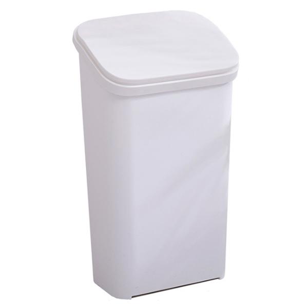 블럭마트 주방 홈 사무실 쓰레기통 20L, 화이트, 1개