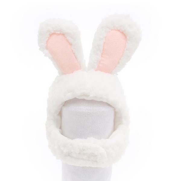 파스텔펫 동물 캐릭터 반려동물모자, 흰토끼