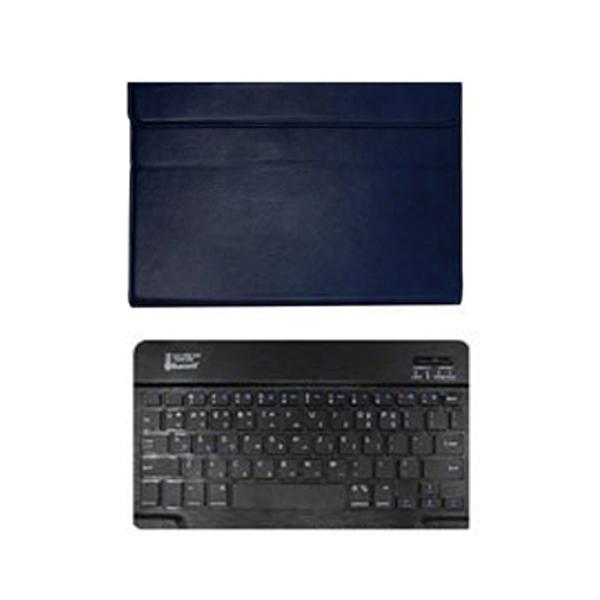 AZV 갤럭시탭 S6 라이트 Lite 10.4 S펜 수납 가능 블루투스 키보드 케이스 + 블루투스 키보드 + 충전기케이블 + 키스킨 세트, 네이비, 블랙