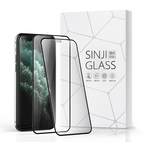 신지모루 풀커버 하이브리드 강화유리 휴대폰 액정보호필름, 2매