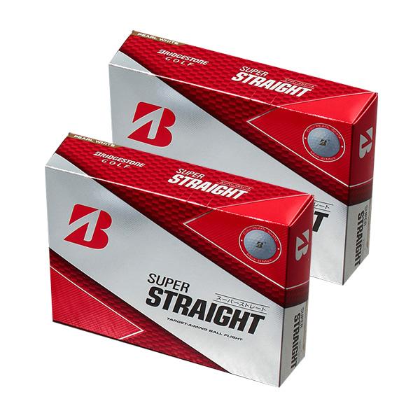 브리지스톤 슈퍼 스트레이트 타켓 에이잉 플라이트 골프공 3피스 42.67mm, 펄화이트, 24개