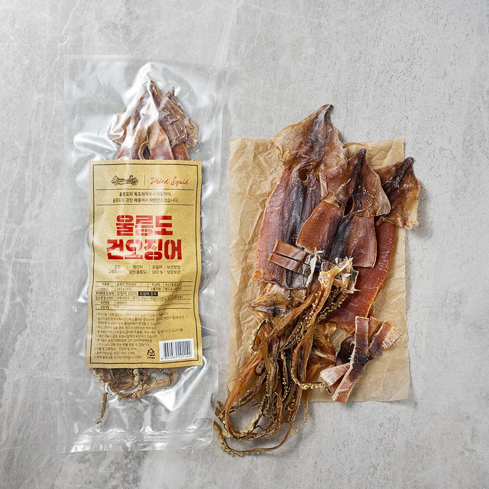현대푸드 울릉도 건오징어 3미 국산, 140g, 1개