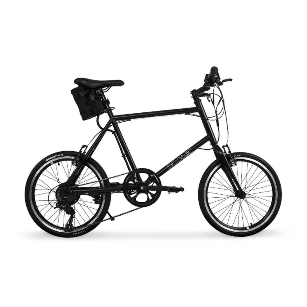 에이유테크 스카닉 7단 미니벨로 전기 자전거 M20N 36V 5A, 새틴 블랙