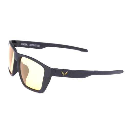 VKOOL 편광렌즈 선글라스 VK-2007 + 도수클립, 올블랙 + 옐로우