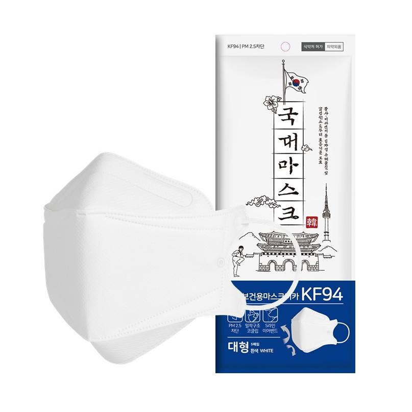 황사 미세먼지 국대마스크 대형 KF94 흰색, 20매, 1개