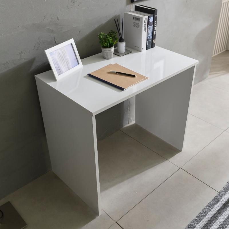 문던 1인용 컴퓨터 800 책상, 화이트