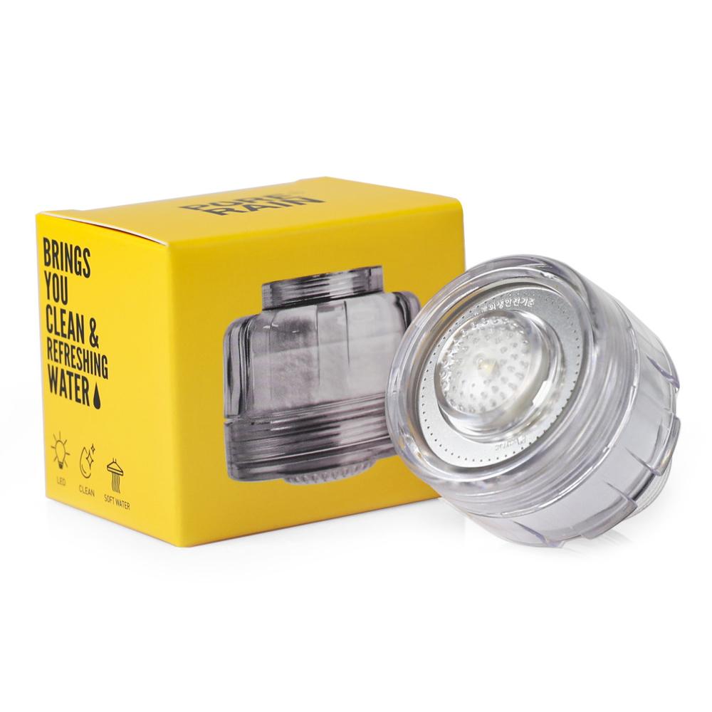 퓨어레인 녹물제거 세면대 필터 LED 수도꼭지 PR-100 LED, 1개
