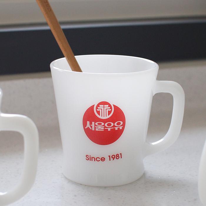 서울우유 밀크홀 레트로 컵, 1981, 1개