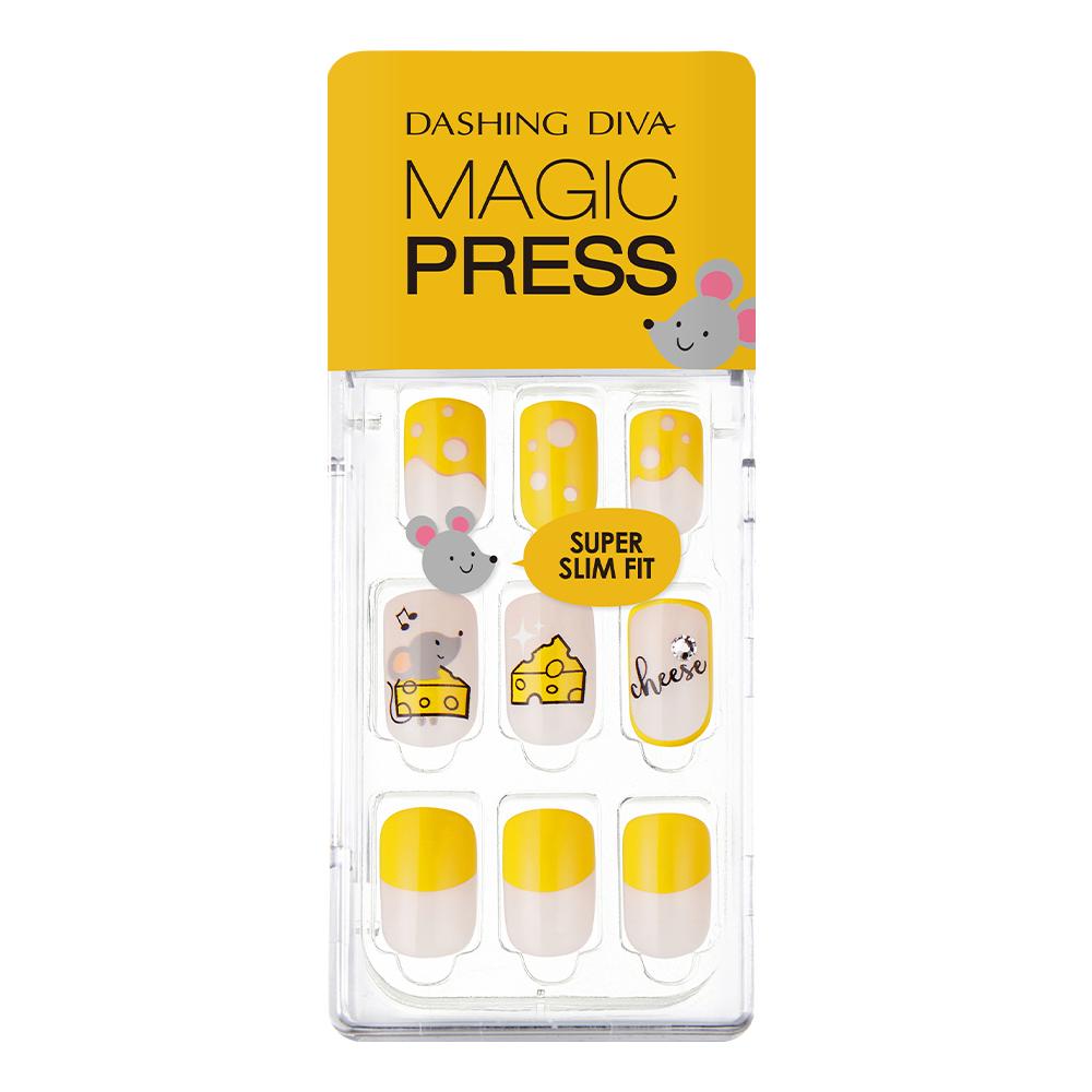 [데싱디바] 데싱디바 매직프레스 쥐띠컬렉션 네일팁, 치즈 러버, 1세트 - 랭킹36위 (6070원)