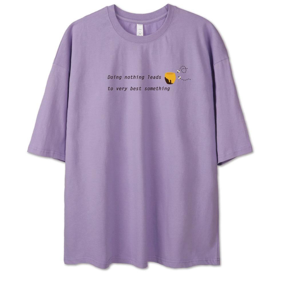 벤힛 꿀단지 오버핏 빅사이즈 반팔 티셔츠