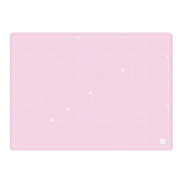 반투명 칼판 데스크 컷팅매트, 핑크