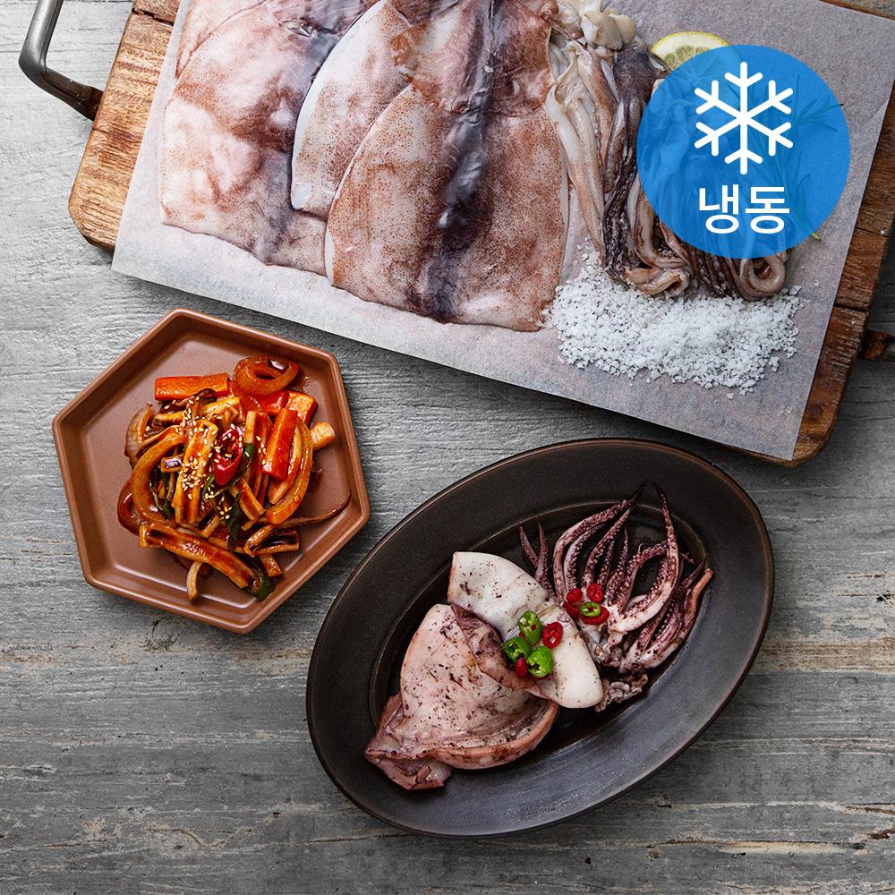 서풍앤쿡 국산 손질 오징어 20미 (냉동), 3kg, 1박스