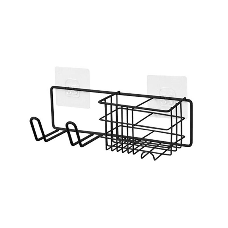 드라이기거치 다용도 욕실선반, 블랙, 1개